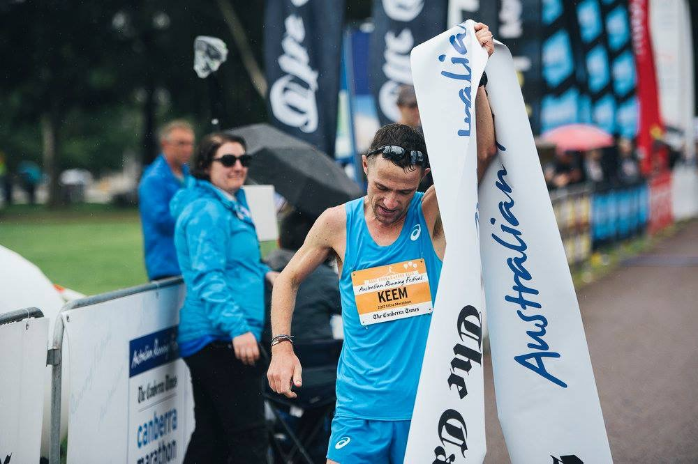 Barry Keem after winning the Ultra Marathon at the Australian Running Festival in 2017