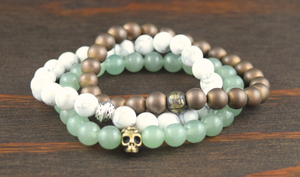howlite, enhanced gold hematite and aventurine.JPG