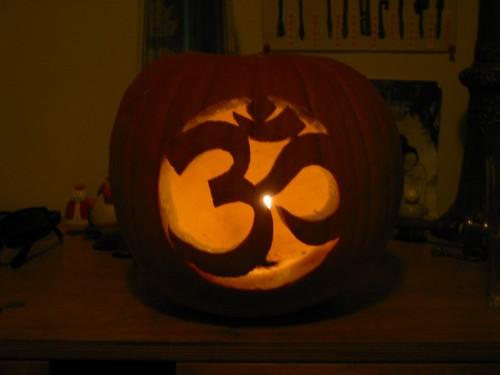 om and lotus flower pumpkin carving stencils happy halloween lotus lava