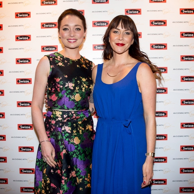 At the Swisse cocktail event with Antonia Prebble