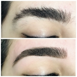 Brow Shaping before and after
