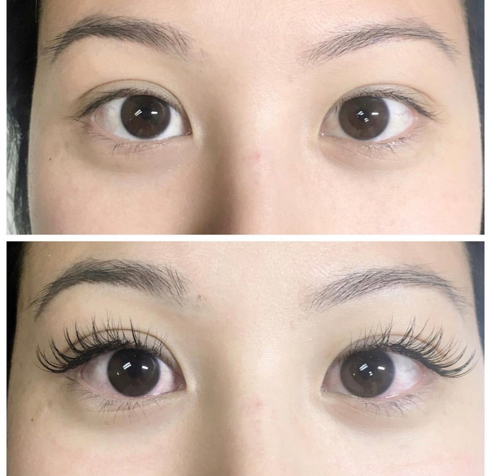 Classic Lashes before and after