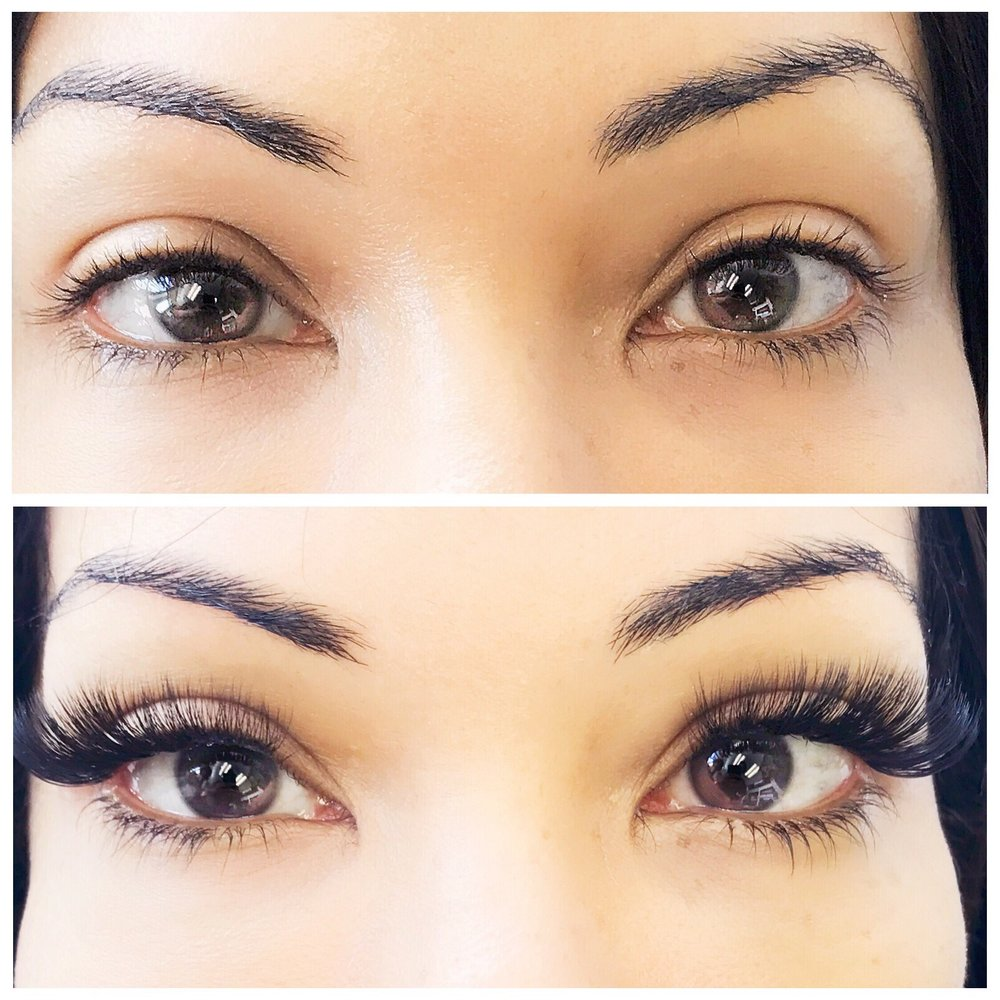 Copy of Volume Lashes before and after