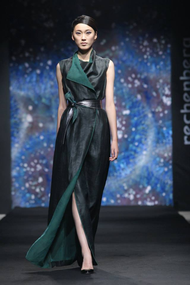 armholed draped tea silk silk dress