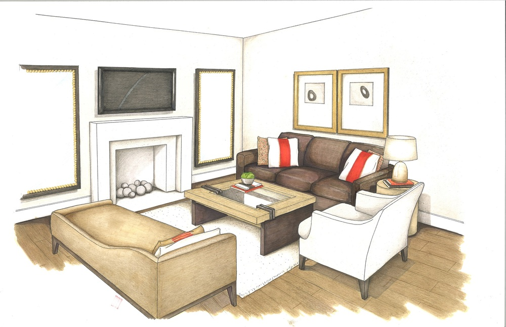 Interior Design Family Room Residential House A