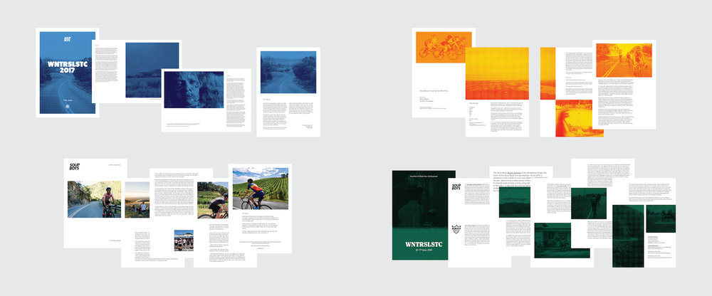 – Campaign briefs & ride guides for CyclingTips, Winter Solstice 2017, Rapha and Ride High Country.
