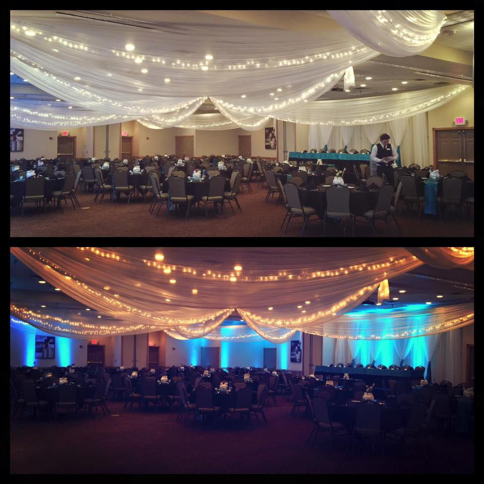 Before and After Hollywood Lighting at Country Inn and Suites