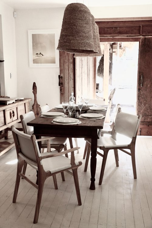 Dining Chairs White Leather Haveli Of Byron Bay Carver