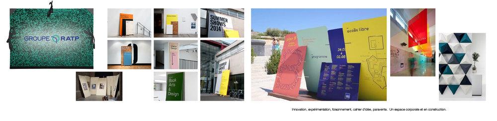 Le concept pour les stands d'exposition du Groupe RATP