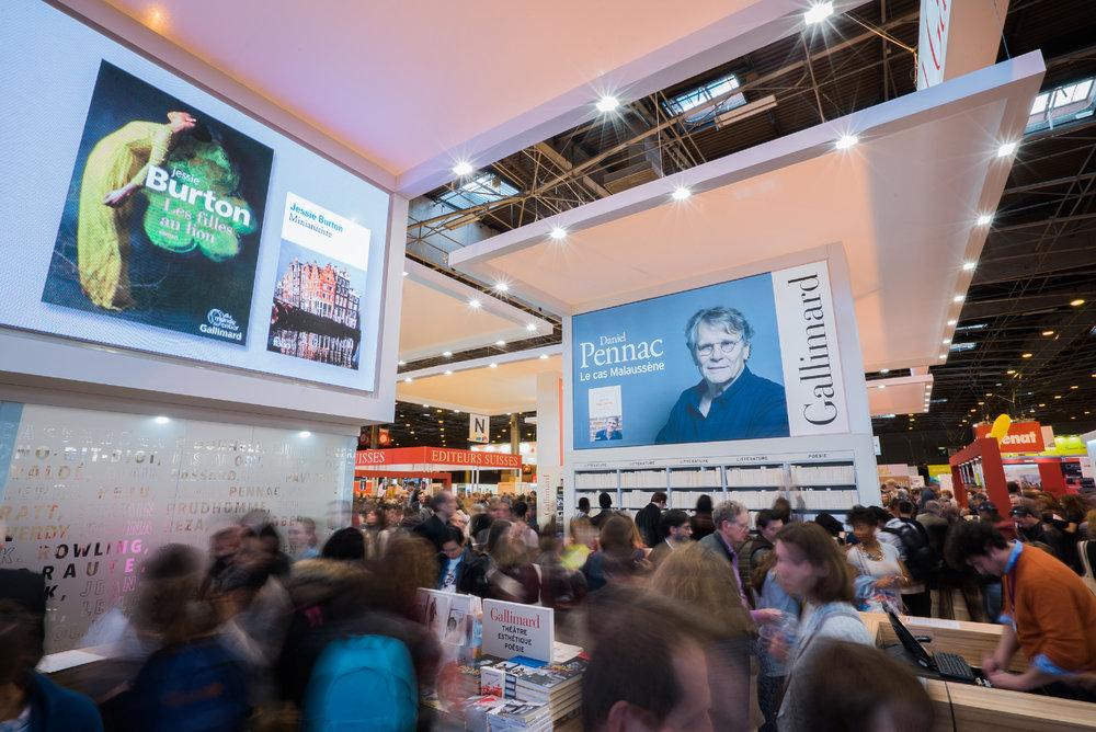 les stands réalisés par Narrative au salon du livre de Paris 2017