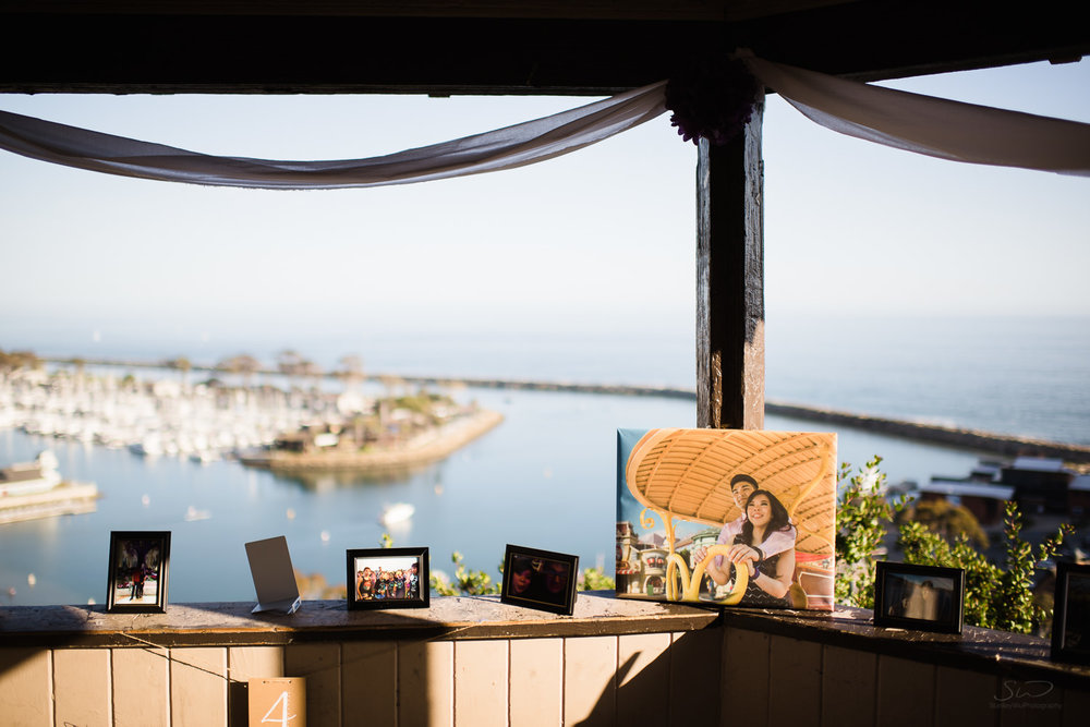 Proposal setup at cliffside gazebo. Epic cliffside proposal in Dana Point | Stanley Wu Photography Portrait & Wedding Photographer | Los Angeles, Orange County, Southern California