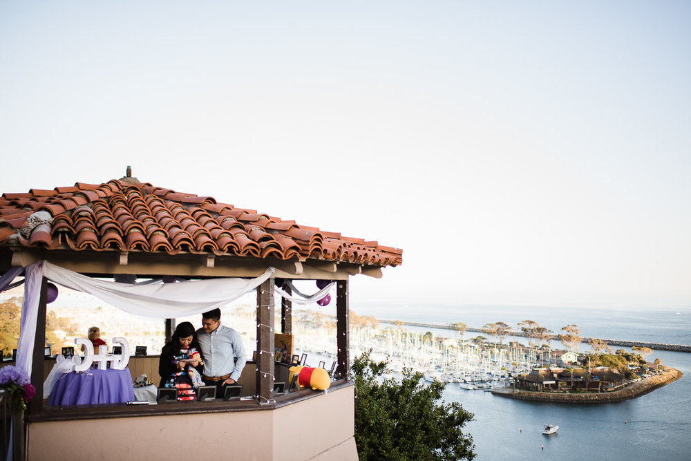 Epic wide shot of gazebo. Cliffside proposal & engagement in Dana Point | Stanley Wu Photography Portrait & Wedding Photographer | Los Angeles, Orange County, Southern California