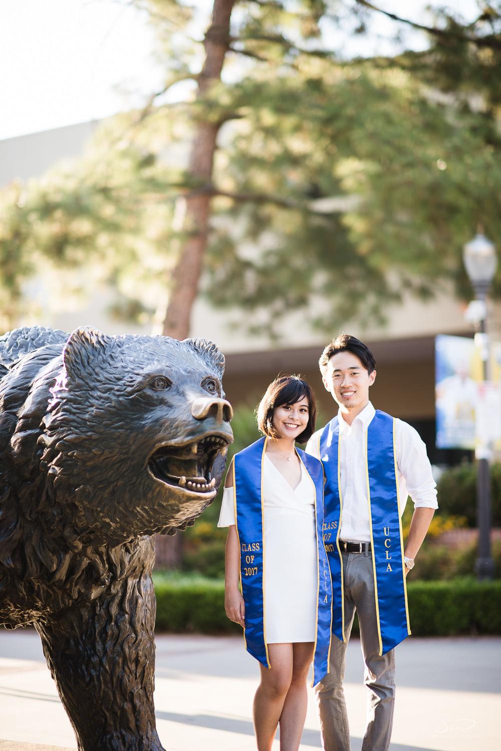 Copy of Copy of college senior couple wearing 2017 sashes | Stanley Wu Photography | Los Angeles | Graduation Portraits | UCLA, USC, LMU, Pepperdine, CSULA, CSUN, CSULB, UCI, UCSD
