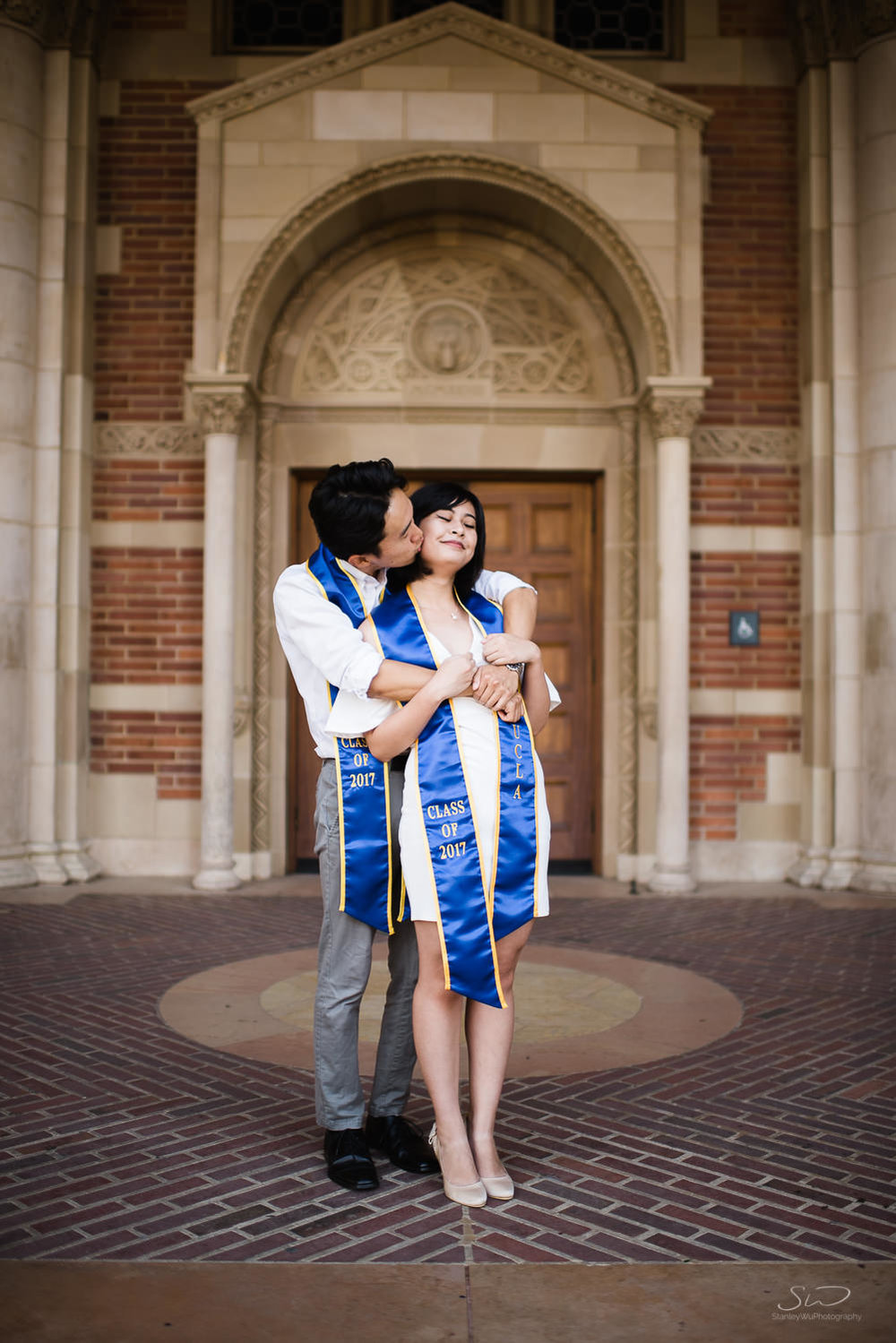 Copy of Copy of couple kissing under arches in royce hall  | Stanley Wu Photography | Los Angeles | Graduation Portraits | UCLA, USC, LMU, Pepperdine, CSULA, CSUN, CSULB, UCI, UCSD