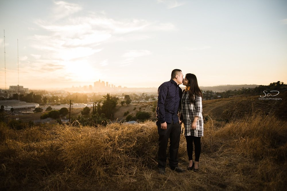 Creatively lit portrait of couple by Stanley Wu, timeless and artistic portrait and wedding photographer based in Los Angeles.