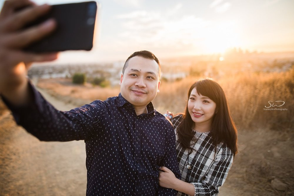 Selfie of couple  by Stanley Wu, timeless and artistic portrait and wedding photographer based in Los Angeles.