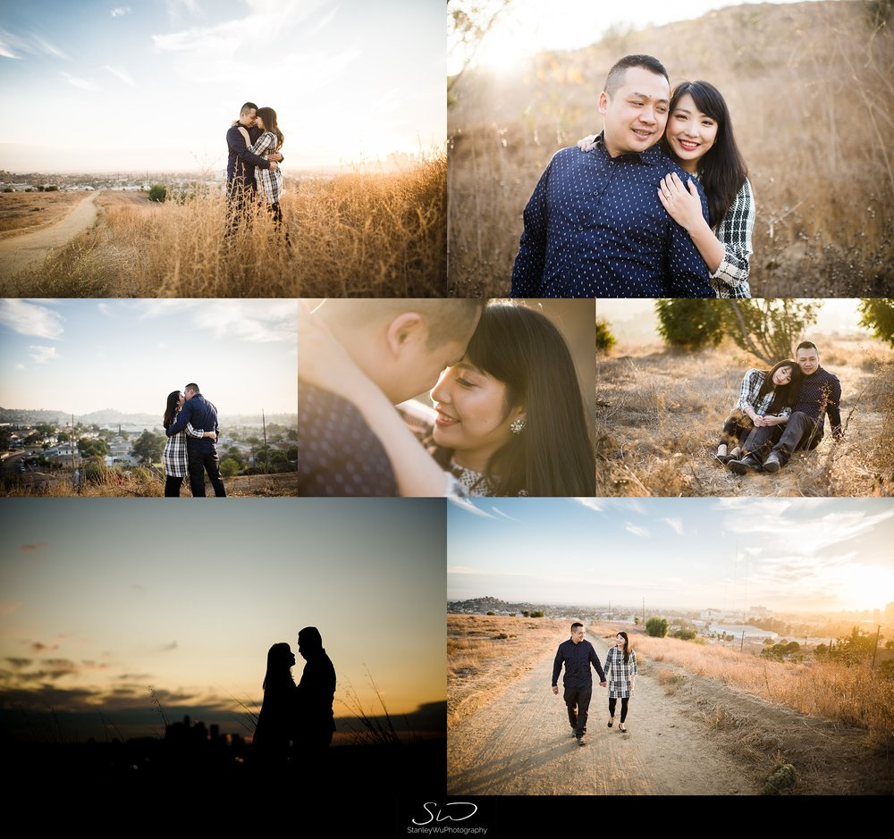 ascot hills engagement collage