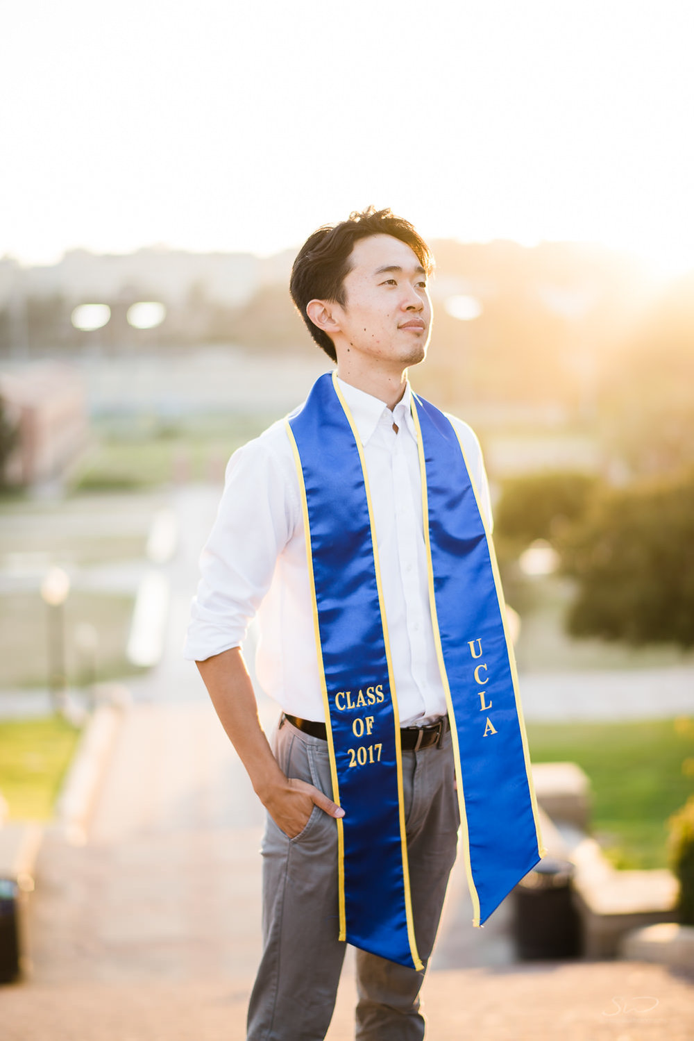 Heroic Portrait at UCLA. Best graduation portrait photography, Los Angeles.
