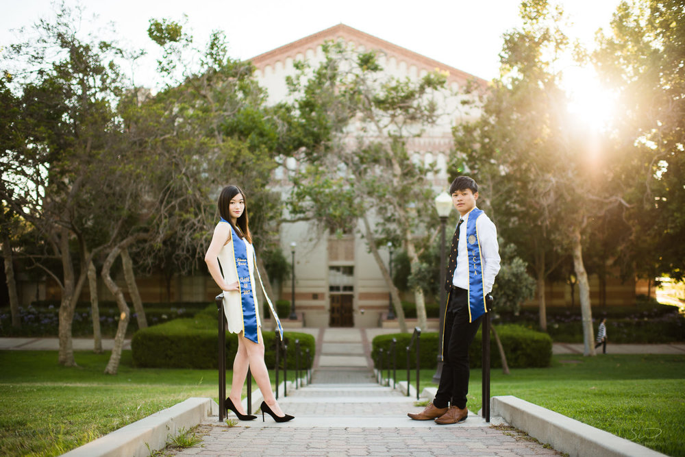 Senior couples. Best graduation portrait photography, Los Angeles.