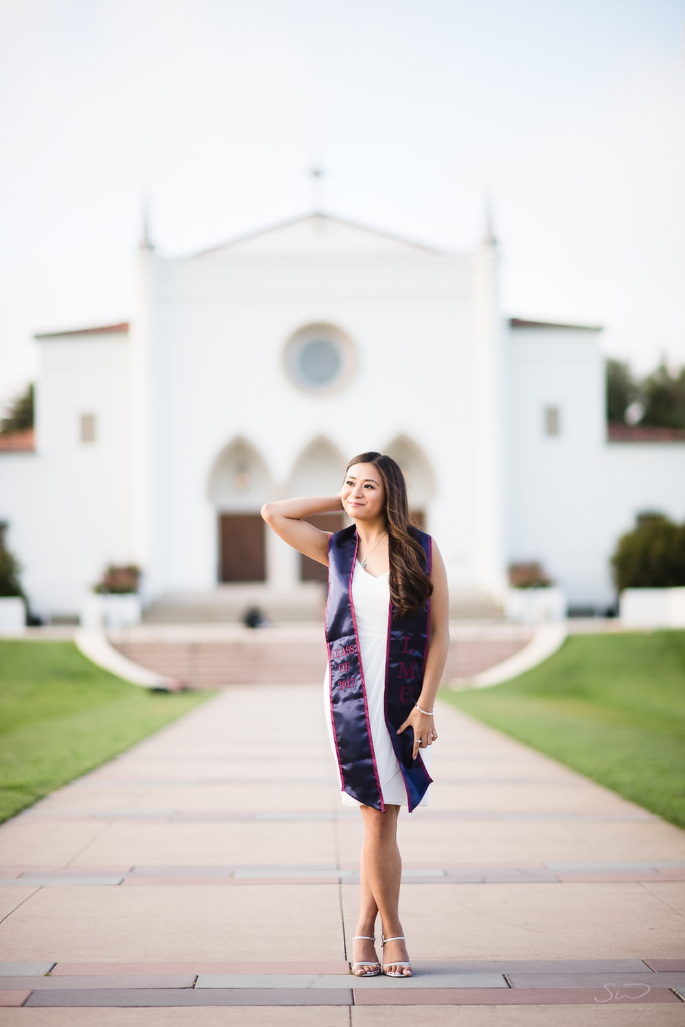Sacred Heart Chapel at Loyola Marymount University LMU. Best graduation portrait photography, Los Angeles.
