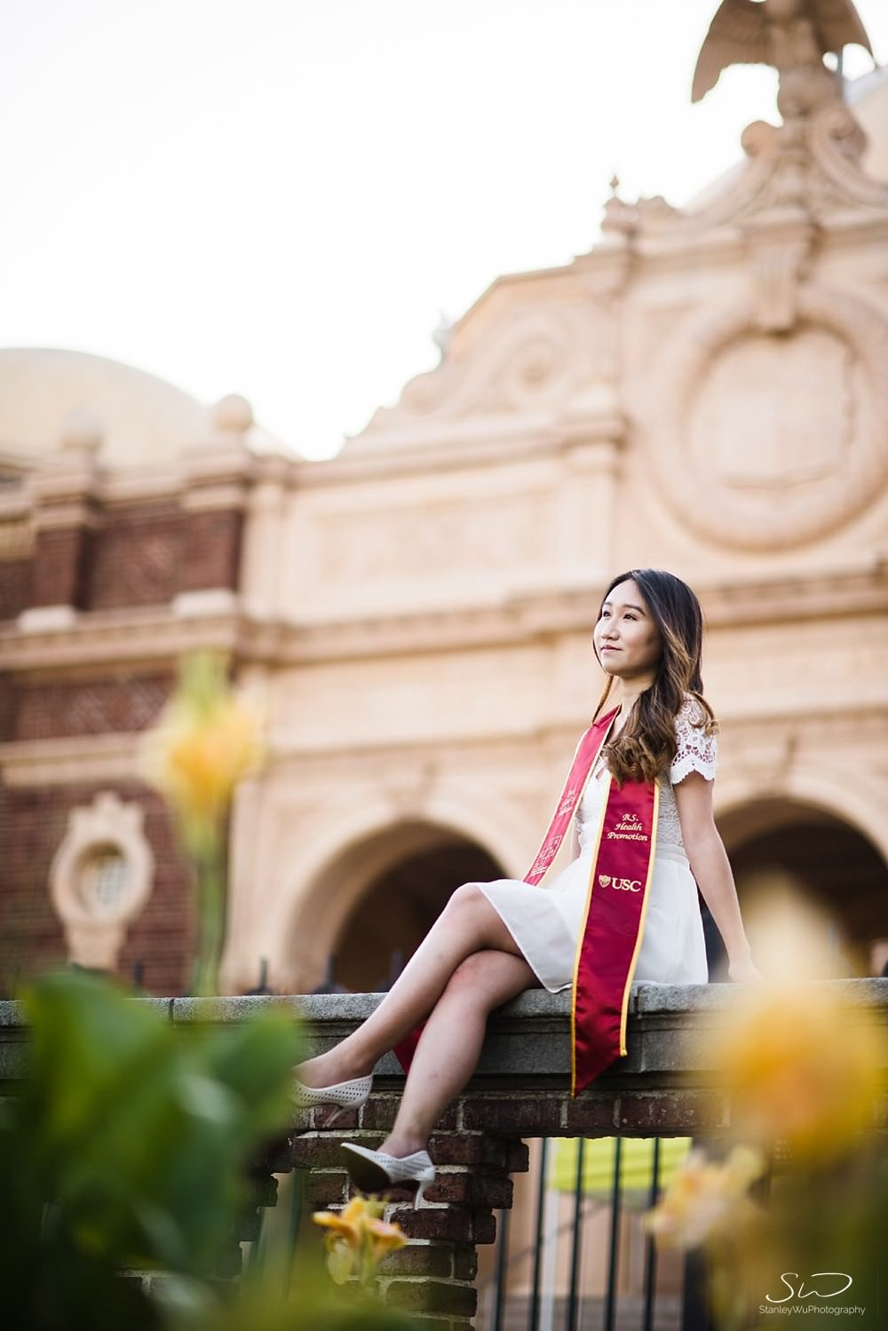 Epic portrait at the Rose Garden at USC | Los Angeles Orange County Senior Portrait & Wedding Photographer