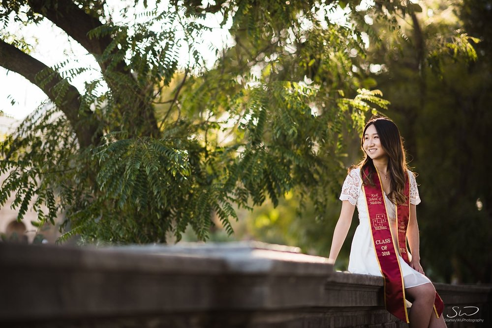 Rose Garden portrait  at USC | Los Angeles Orange County Senior Portrait & Wedding Photographer