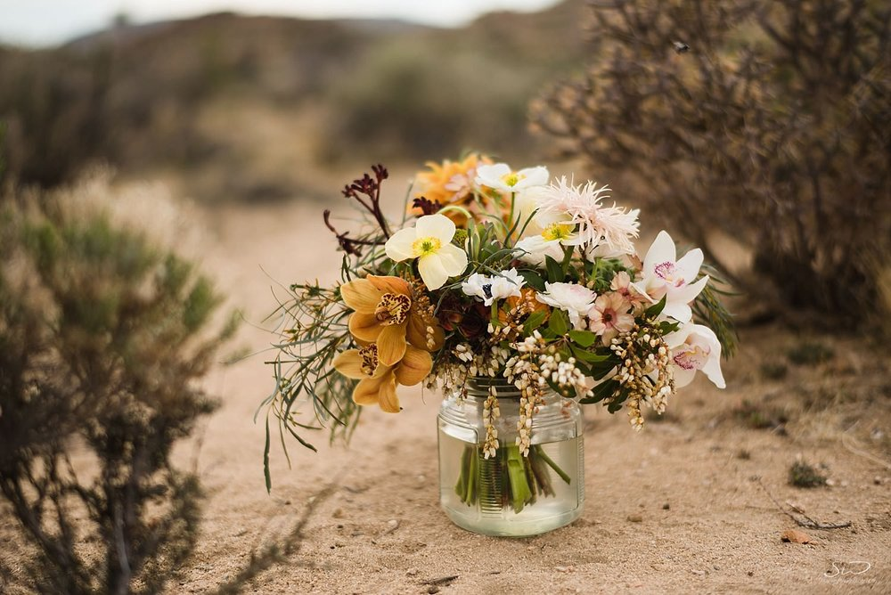 Desert flower aesthetics, bridal flower bouquets | Joshua Tree Desert Wedding & Engagement Inspiration