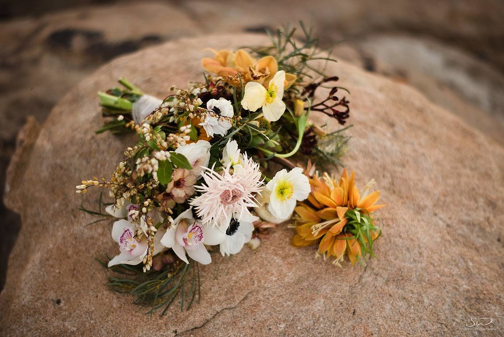 Desert themed bridal bouquet | Joshua Tree Desert Wedding, Engagement, Elopement, Adventure Inspiration