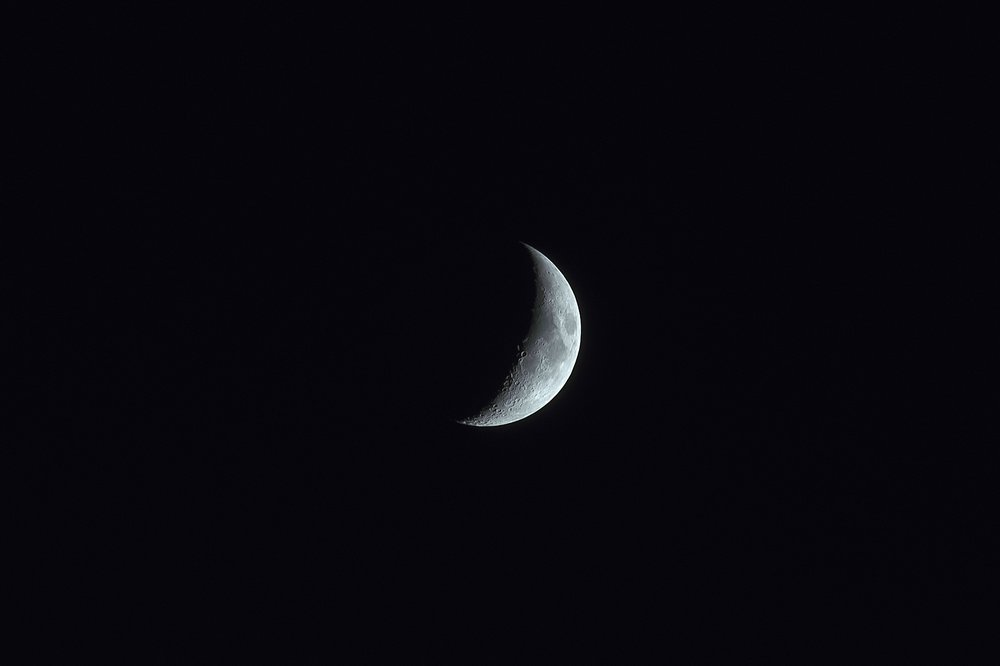 Waxing Crescent PHOTO BY Zachary Hayes