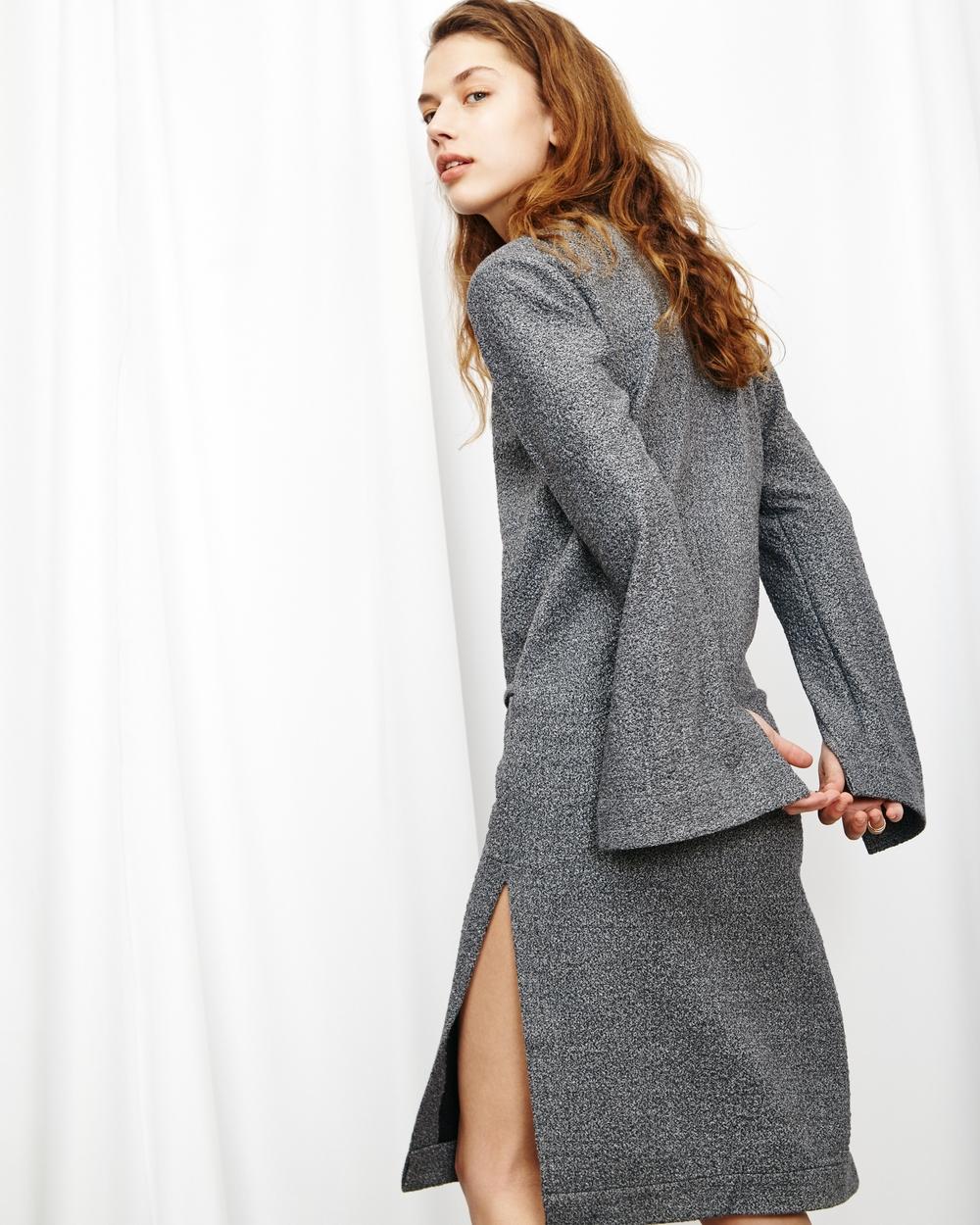 Zion Rib Dress in Concrete 69€