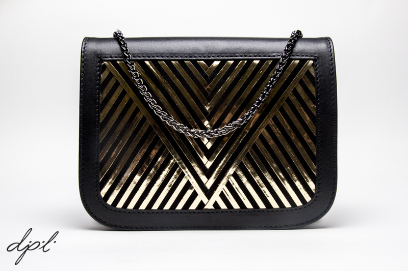 "The Coachella Bag ""V"" in Black + Gold"