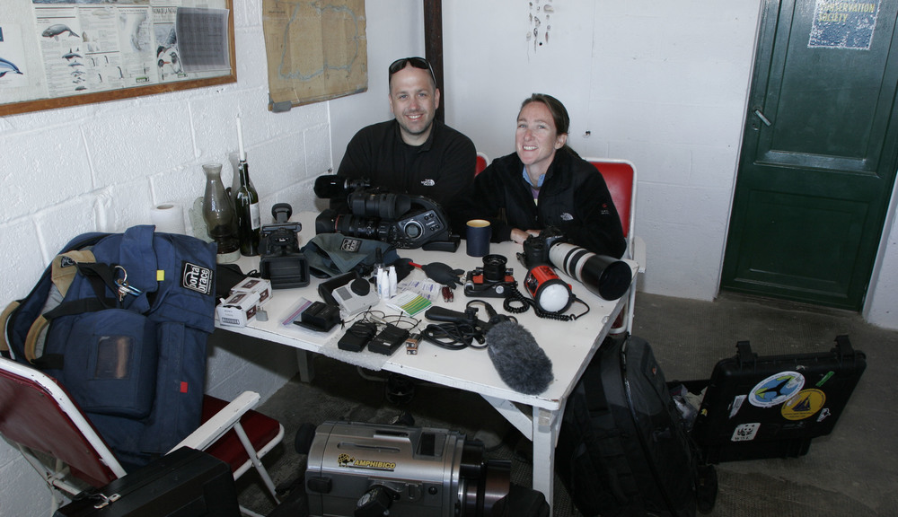 With the gear filming & photographing southern right whales in Argentina.
