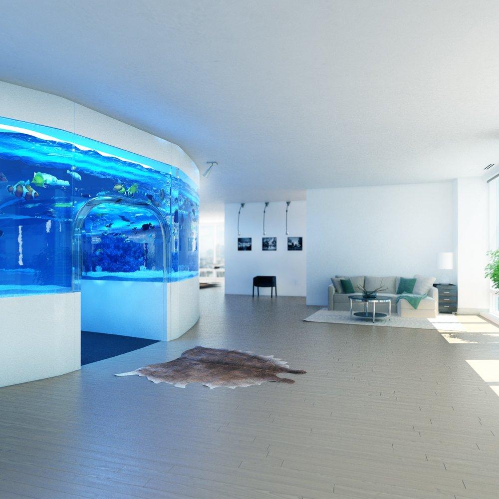 Aquarium Concept - South China Morning Post Newspaper