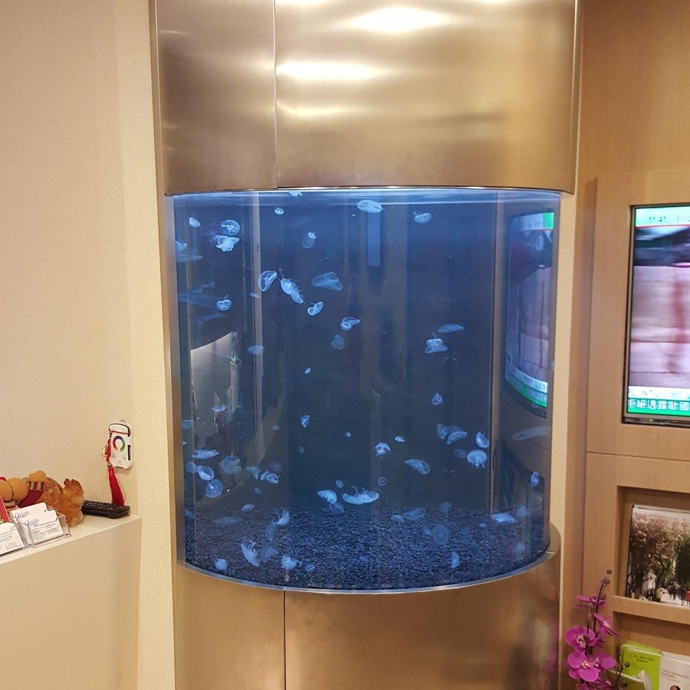 圆柱状水母水族箱 - 香港医务所