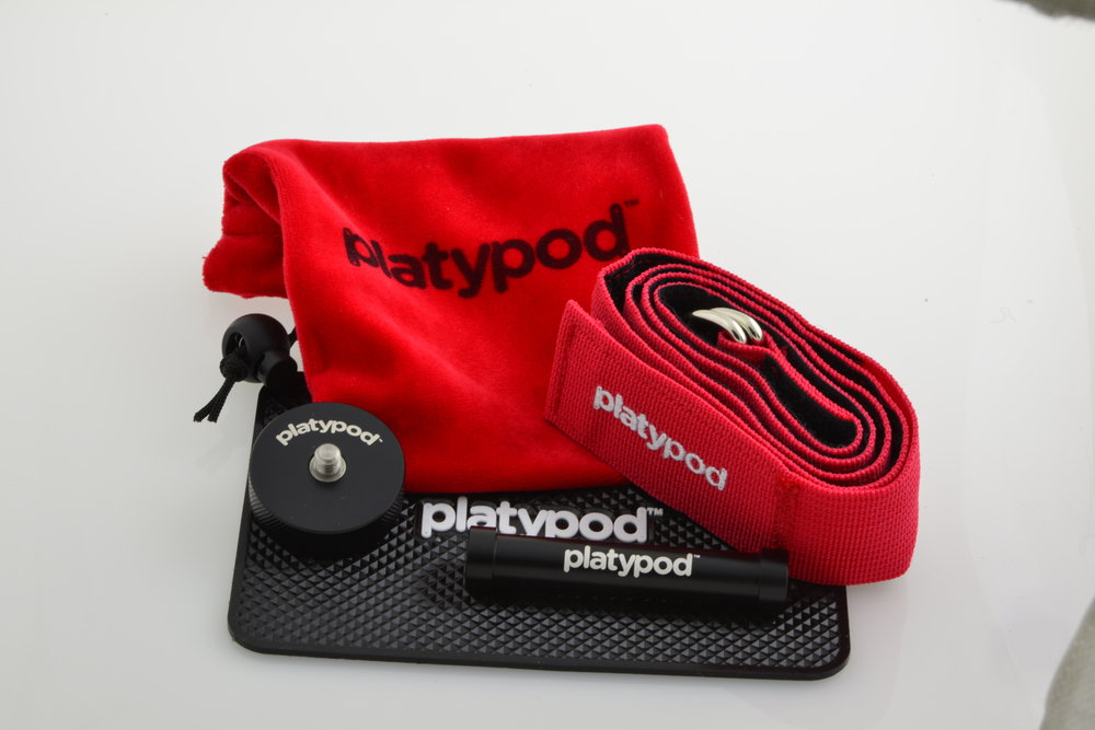 the drawstring pouch - This 4,25 x 6.25 pouch keeps all your handy Platypod accessories right by your side.