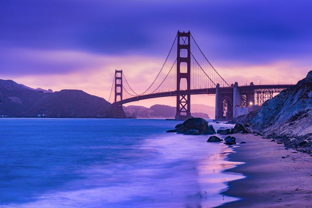 13 second exposure of Golden Gate Bridge ©Deborah Sandidge