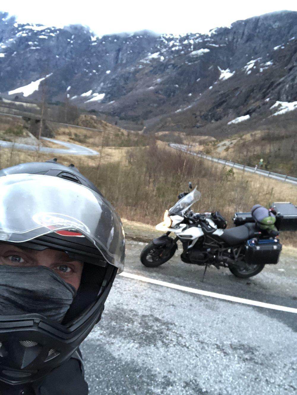 selfie with a bike