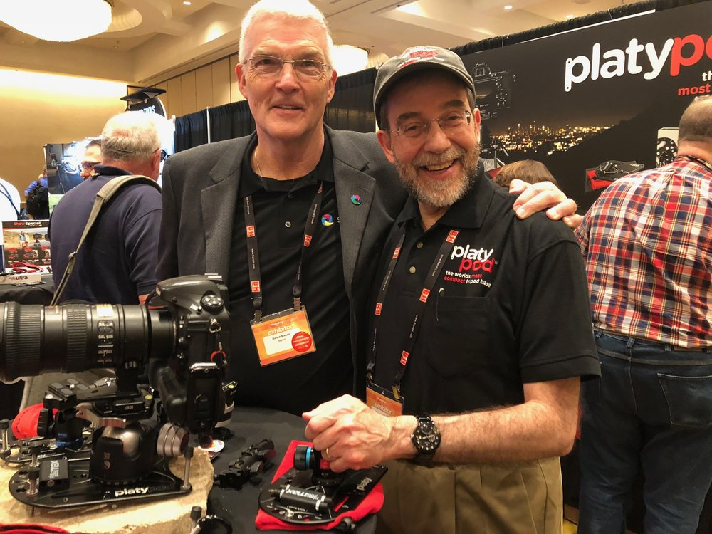 We saw lots of friends at Photoshop World, including Dave Moser!