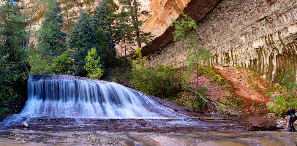 "Pictured: About 500 meters downstream from The Subway in Zion National Park; Photo Credit:  ""Waterfall""  by  Sascha Wenninger . Used under  CC BY-SA 2.0 ."