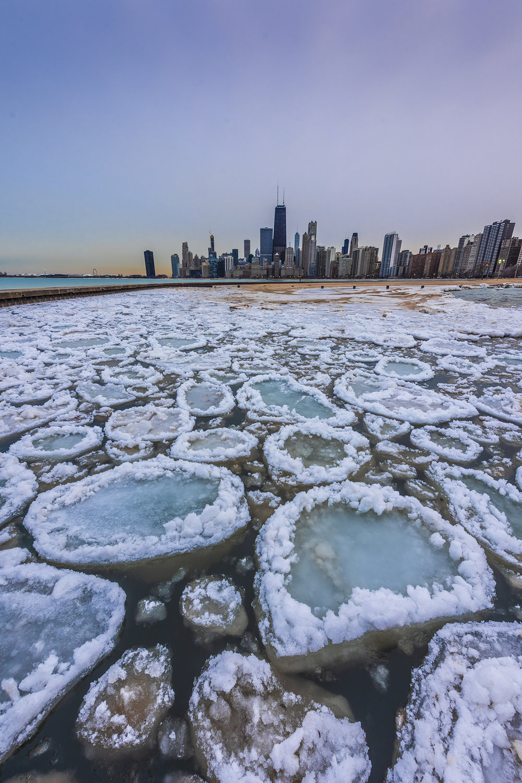 Lake Michigan frozen Chicago