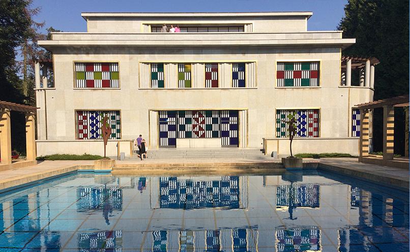 Villa Empain at the time of its Daniel Buren exhibition. © Boghossian Foundation