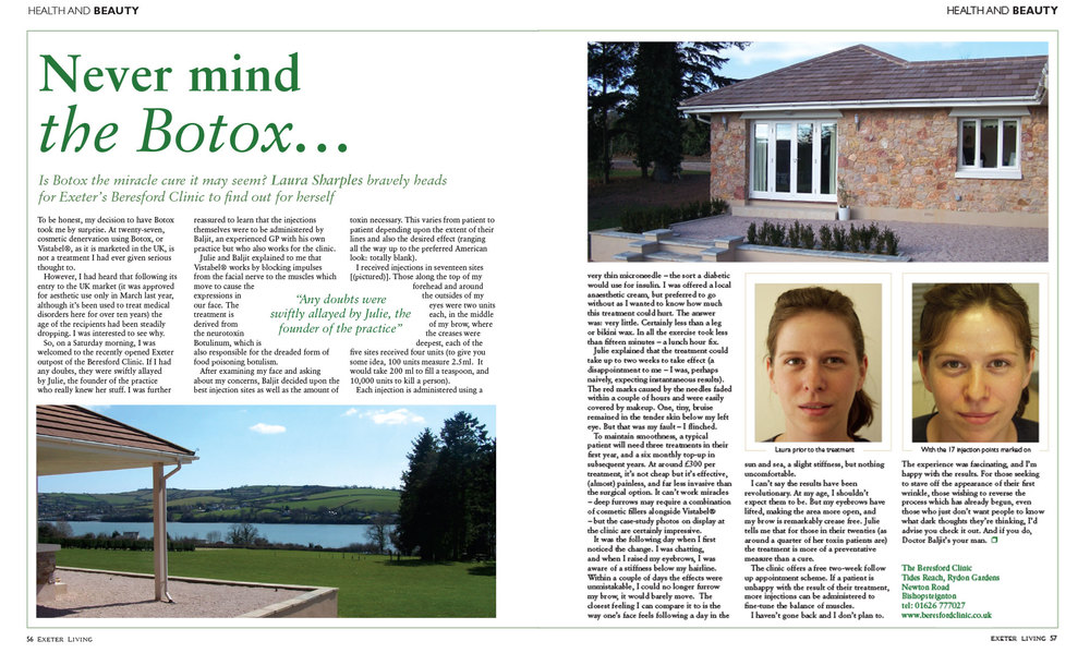 exeter living botox article