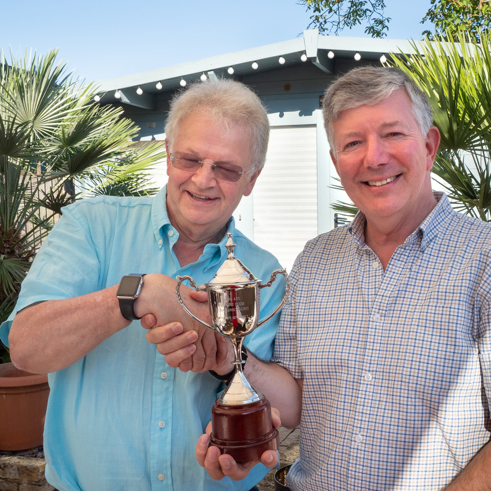 Paul Mason receives his trophy from EHHPS President Phil Dean