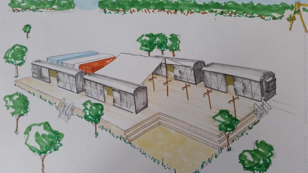 Bahnhof ontwerptekening