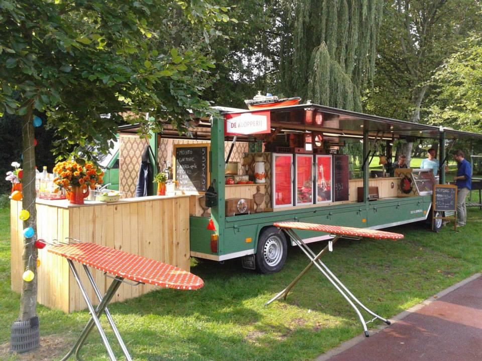 Marktwagen + receptietafels