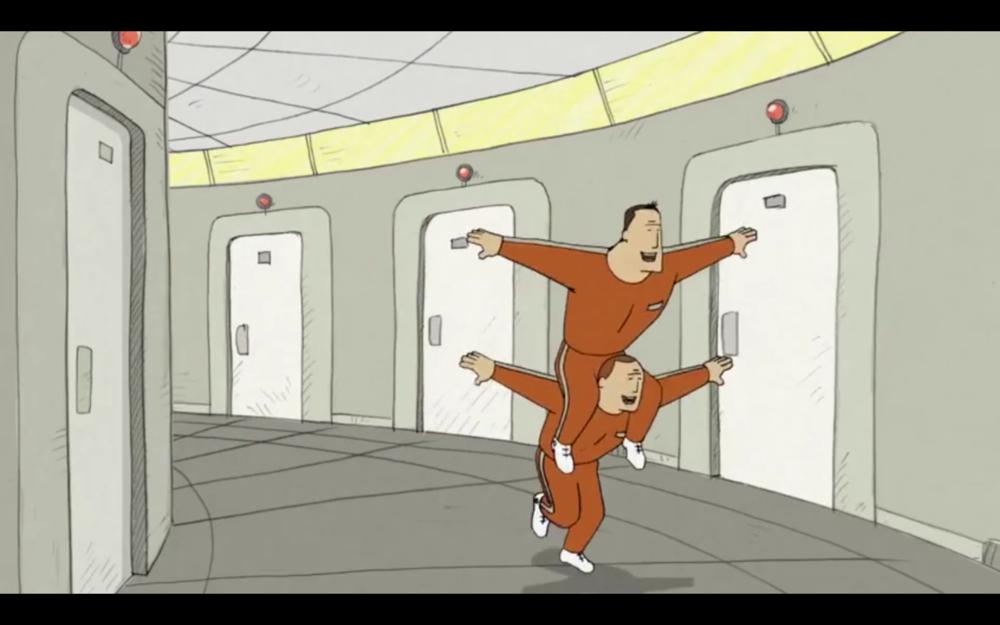 他們擁有上太空的夢 They have the same dream of becoming cosmonauts.