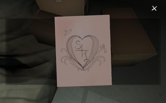 一張用鉛筆畫的卡片,上面的圖案似乎意味著什麼?