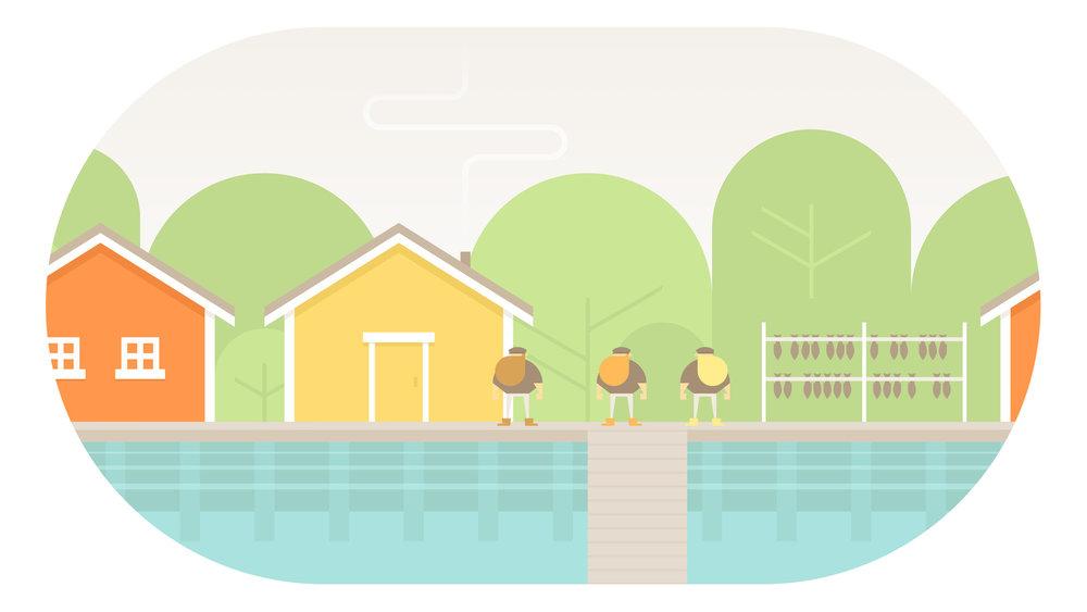 三兄弟居住的島嶼,出航前先到處看看吧!