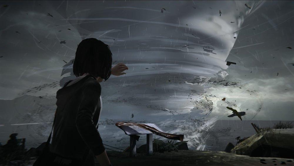 故事一開頭,女孩眼前就是巨大的龍捲風...