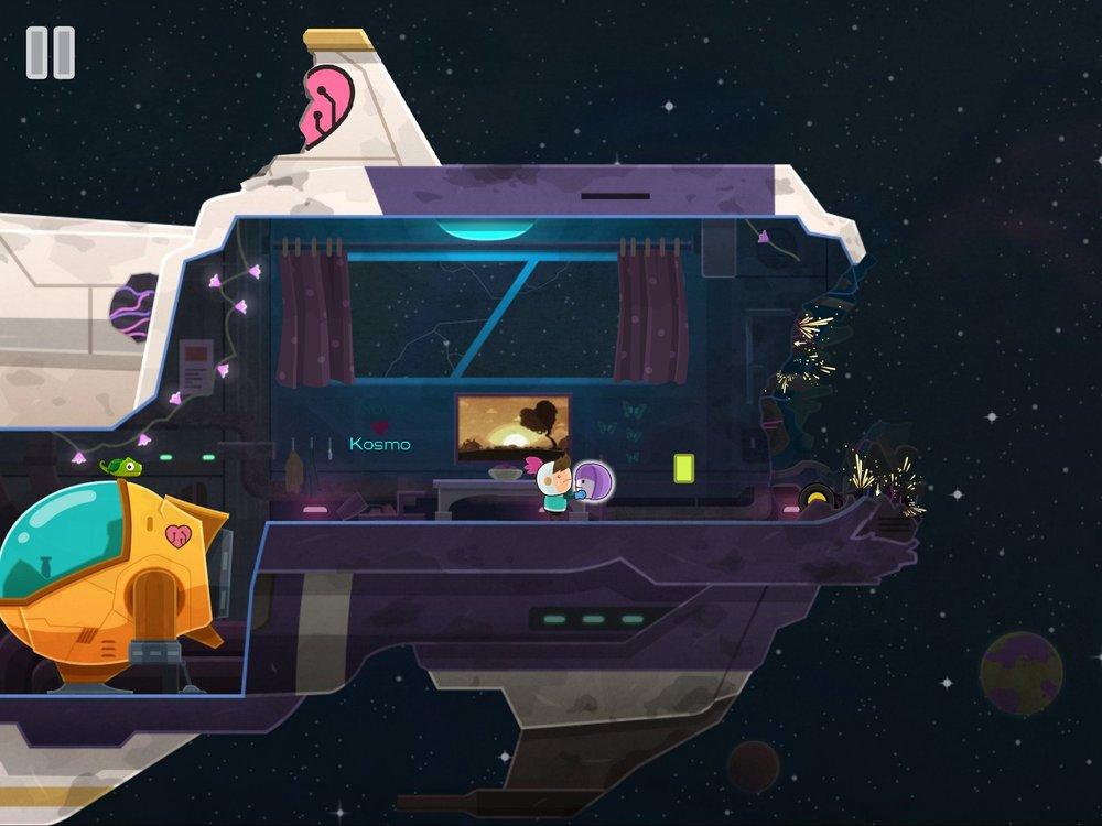 遭受攻擊的太空船上,小男孩起了拾起了機器人殘存的頭部,暗自下定了決心。